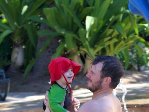 Chris Pratt se fue con toda su familia a la isla de Maui para relajarse...