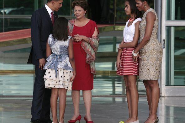 Durante la visita a Brasil del presidente de Estados Unidos, Barack Obam...