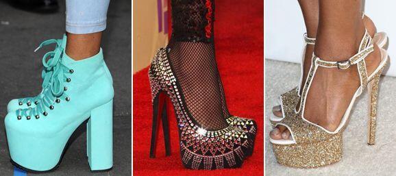 Sus vestuarios estarán de miedo pero hay algunos zapatos de su colección...
