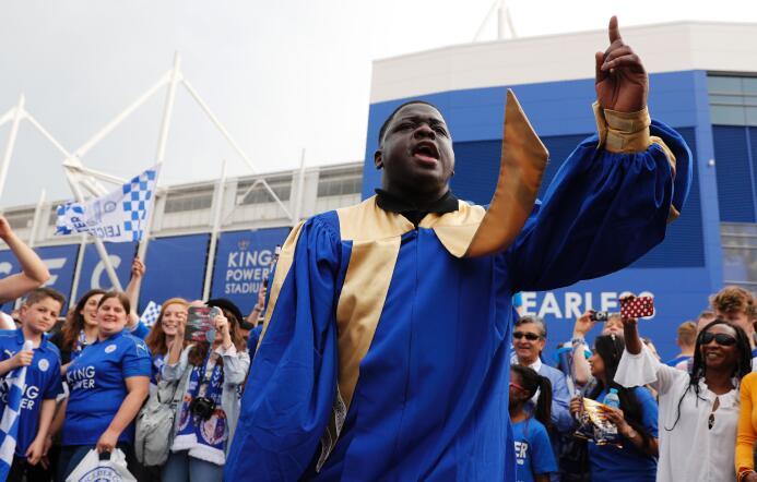 El Leicester vivió un día de fiesta celebrando su campeonato de la Premier.