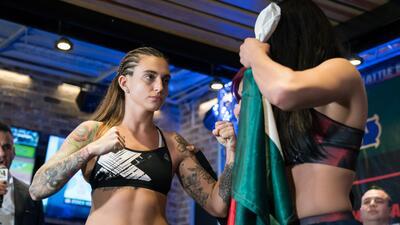 Así fue el pesaje femenino del Combate Américas II que se llevará a cabo en Monterrey