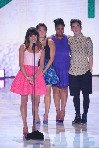 Lea con Jenna Ushkowitz, Amber Riley y Kevin McHale.  Mira aquí lo últim...