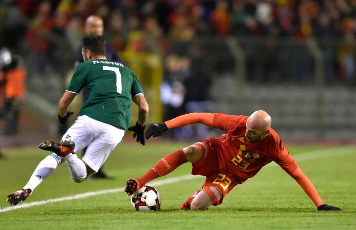 Así jugaron uno a uno los 'Diablos Rojos' de Bélgica contra México getty...