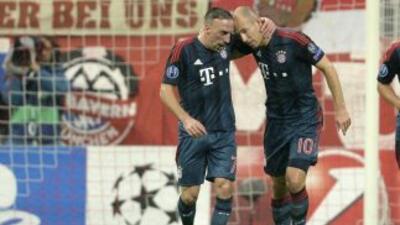 Ribery marcó dos goles en el sencillo triunfo del Bayern.