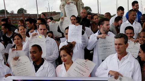 Se estima que unos 8,000 médicos cubanos se beneficiaron del prog...