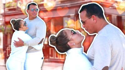 JLo y Alex Rodríguez se besan y derrochan romanticismo en las calles de Los Ángeles