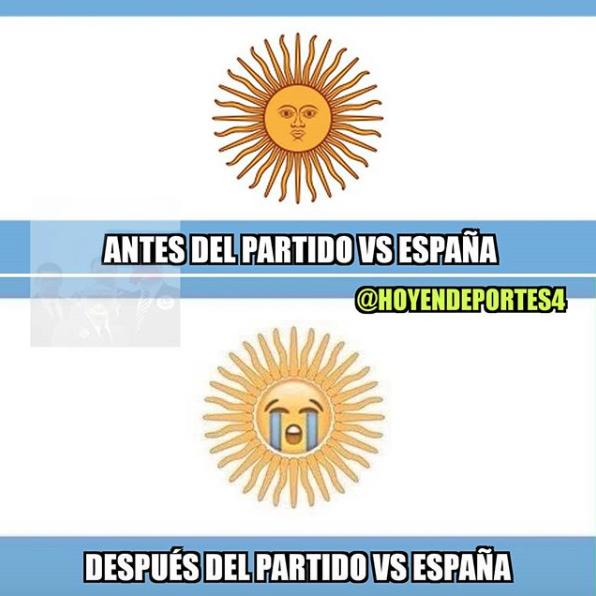 No solo fue España, los memes también le dieron una goliza a Argentina c...