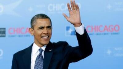 El Presidente de Estados Unidos, Barack Obama, durante un acto de la Cum...