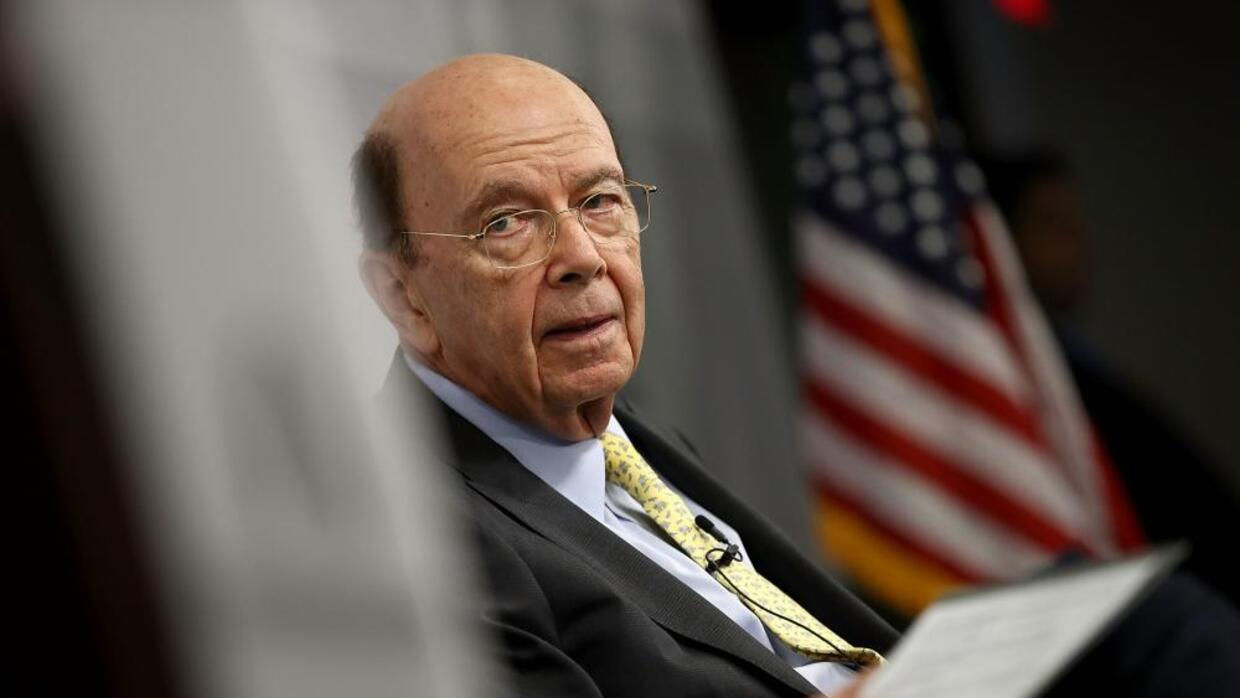 The Commerce Secretary, Wilbur Ross, at an event in Washington DC in May...