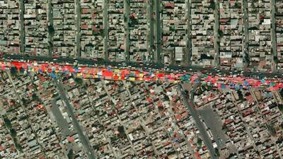 El comercio callejero de Ciudad de México desde las alturas