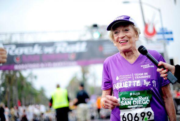 Al terminar el maratón las palabras de Harriet fueron: 'Me siento increí...