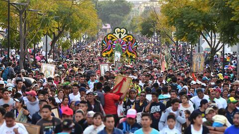 Todo listo para celebrar el día de la Virgen de Guadalupe en México