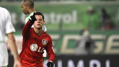 Chicharito le anotó al Wolfsburgo