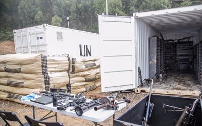 En un acto oficial en Colombia, la ONU confirma que las FARC entregaron...