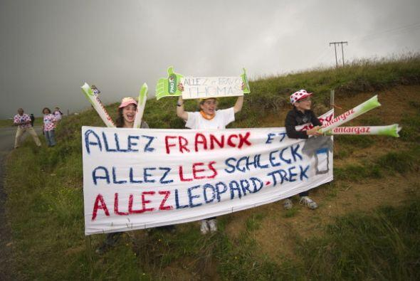 Las pancartas son frecuentes en este Tour.
