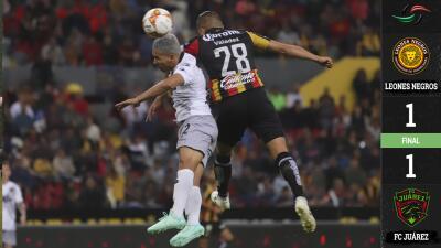 Juárez vino de atrás y logra un empate ante Leones por los Cuartos de Final