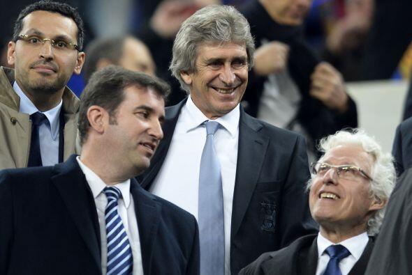 El entrenador chileno Manuel Pellegrini, responsable de los 'Citizens',...