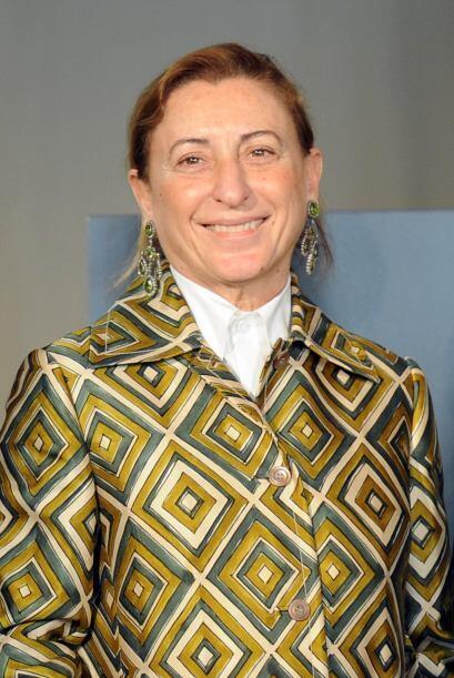 75.- MIUCCIA PRADA. La exquisita diseñadora italiana tiene una fo...