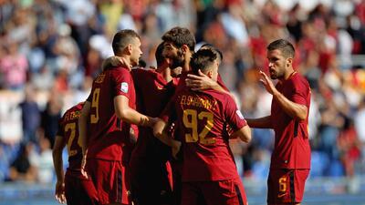 Fiesta y triunfo para la Roma tras vencer 3-1 al Udinese