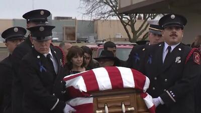 Así fue la emotiva procesión fúnebre de la policía que murió baleada en cumplimiento de su deber