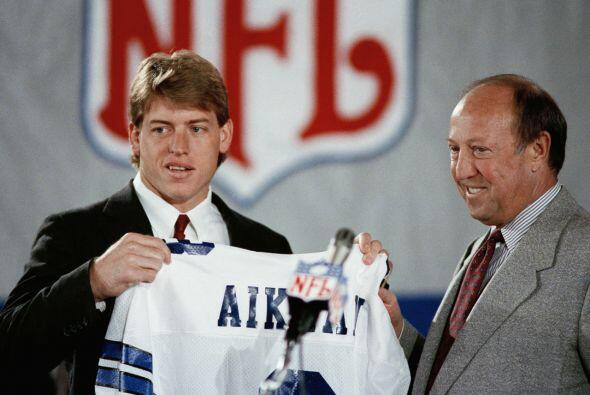 4. Troy Aikman (1989).- Dallas Cowboys.
