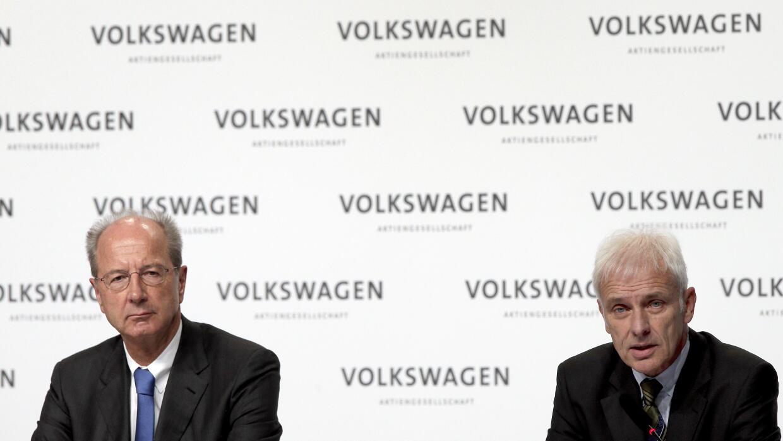 Hans Dieter Poetsch, Presidente y Matthias Mueller, CEO de Volkswagen