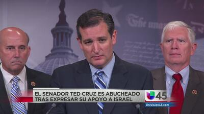 Ted Cruz abandonó evento tras ser abucheado