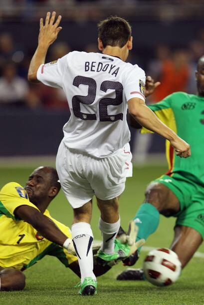 Alejandro Bedoya entró para la segunda parte, también falló un par de op...