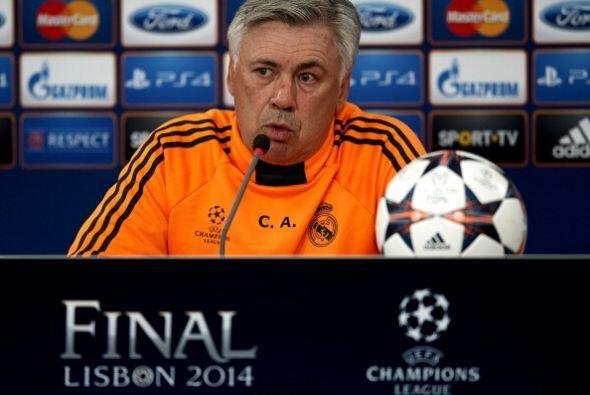Ancelotti se notaba más serio, sabe el compromiso que tiene para ganar l...