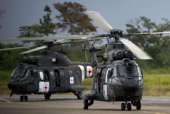 El apoyo de Brasil se hizo presente con el préstamo del helicóptero Coug...