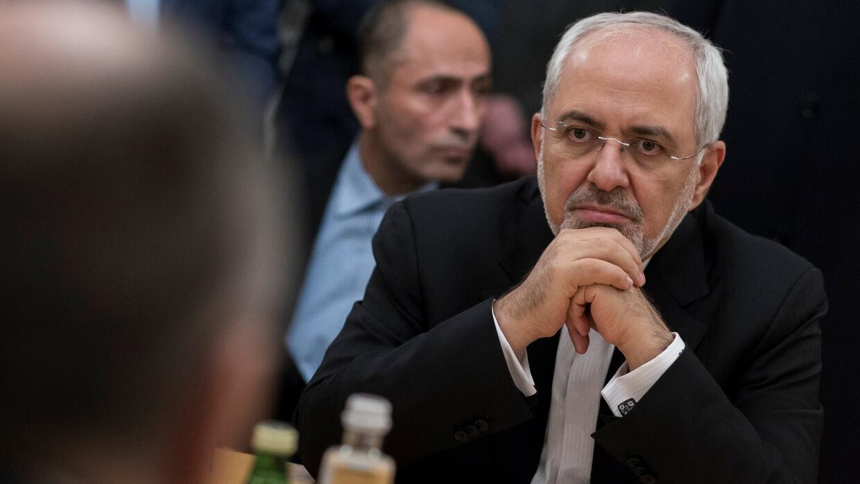 El ministro de asuntos exteriores de Irán, Mohammed Javad Zarif, cuyo mi...