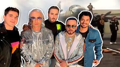 """Encima de las alas de un avión, Reik arma """"una parranda"""" en su nuevo video junto a Wisin y Yandel"""