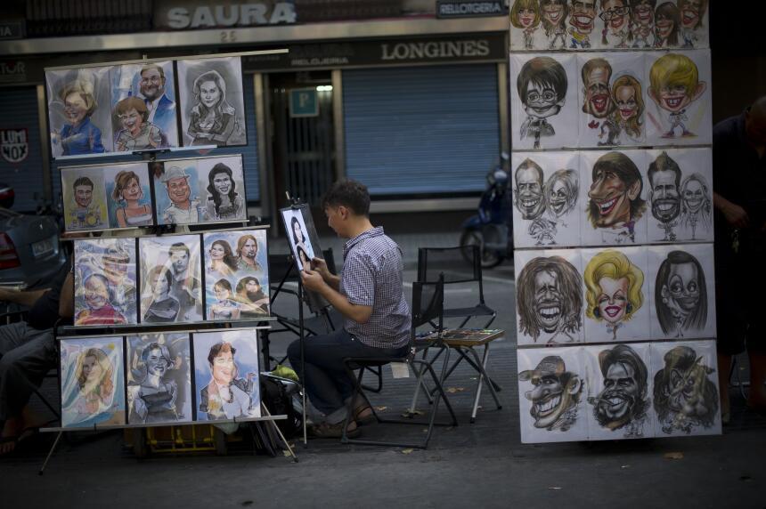 En fotos: Así luce La Rambla de Barcelona en un día normal GettyImages-1...