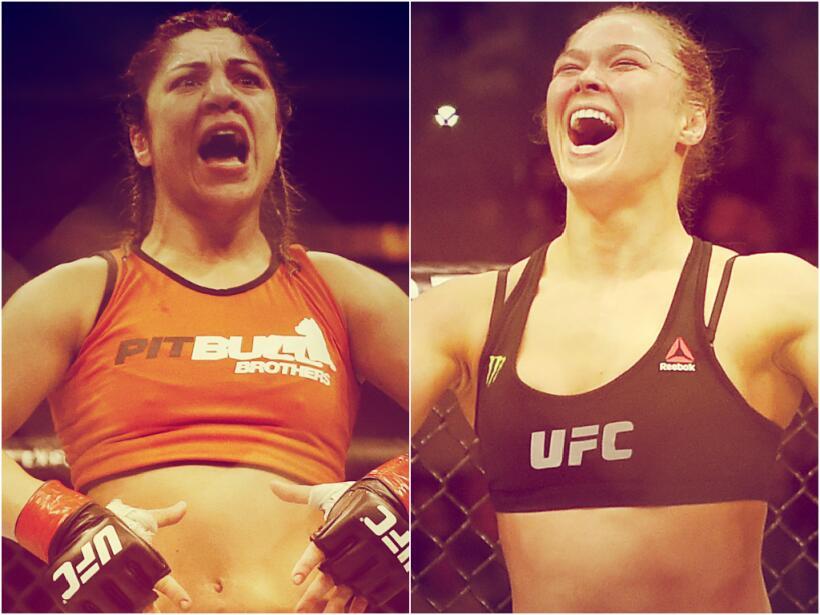 La campeona peso gallo de la UFC Ronda Rousey se prepara para defender s...