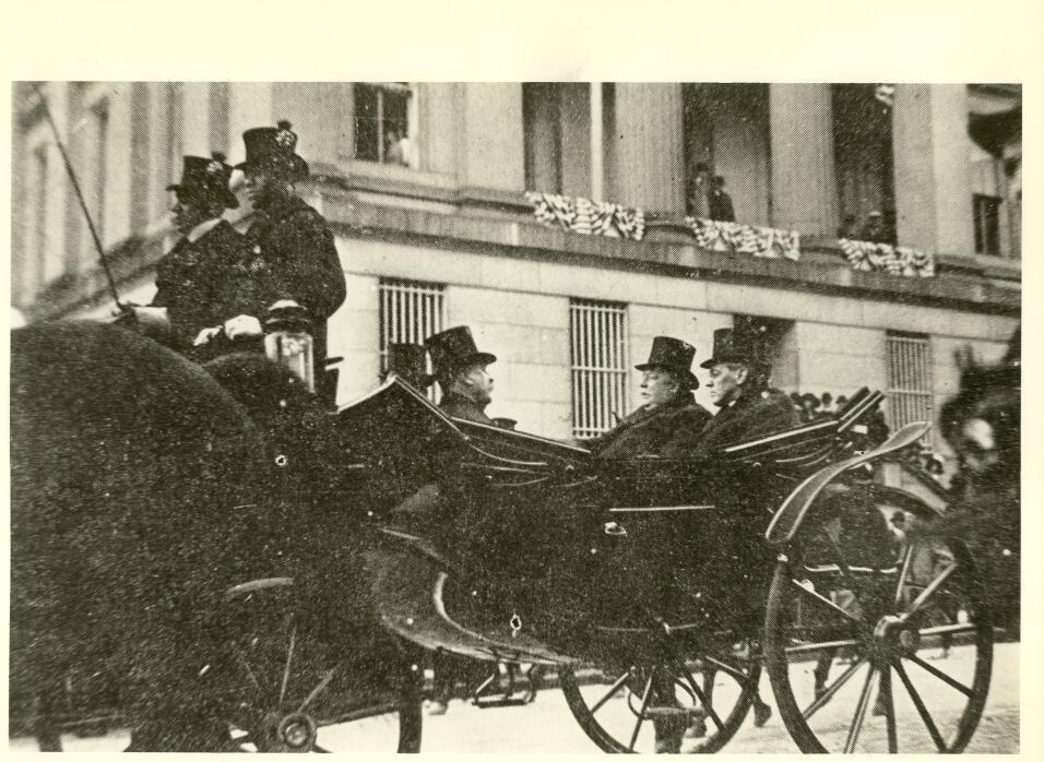 President-elect Wilson, alongside President Taft, en route to the capit...
