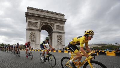 En fotos: Geraint Thomas gana el Tour de Francia,  el primer galés en lograr la hazaña