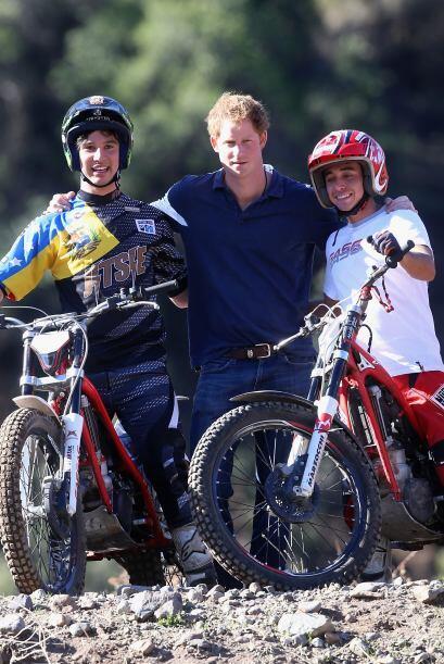 También se reunió con jóvenes deportistas que comparten uno de sus gusto...