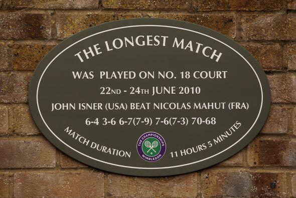 Recordemos que John Isner y el galo Nicolás Mahut realizaron, la edición...