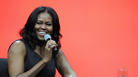 Michelle Obama en un conversatorio en Orlando, Florida, el 27 de abril d...