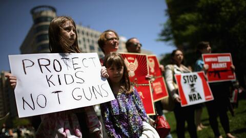 Protestantes en Washington DC a favor de un endurecimiento al control de...