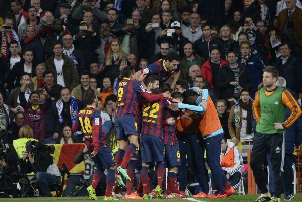 Barcelona, el equipo que no llegó como favorito a este duelo, el que par...