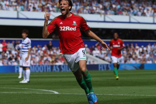 Mediocampista, Michu: El español tuvo un debut de ensueño con el Swansea...