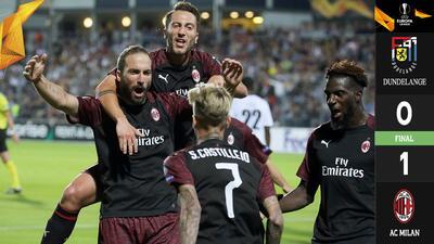 Milan muestra mínima superioridad para ganarle al Dundelange en la Europa League