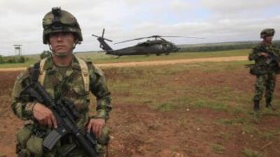 Soldados del ejército colombiano.