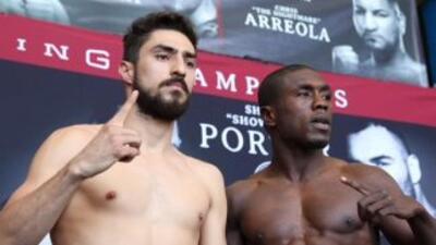 Josesito López y Andre Berto en peso (Foto: AMB).