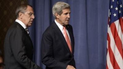 Serguei Lavrov y John Kerry.
