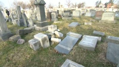 Vandalizan un histórico cementerio judío en Nueva York
