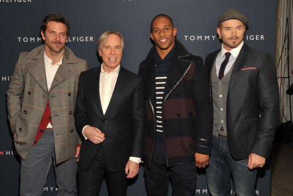 Una foto de celebridades en New York: Cooper, Hilfiger, Cruz y Lutz.