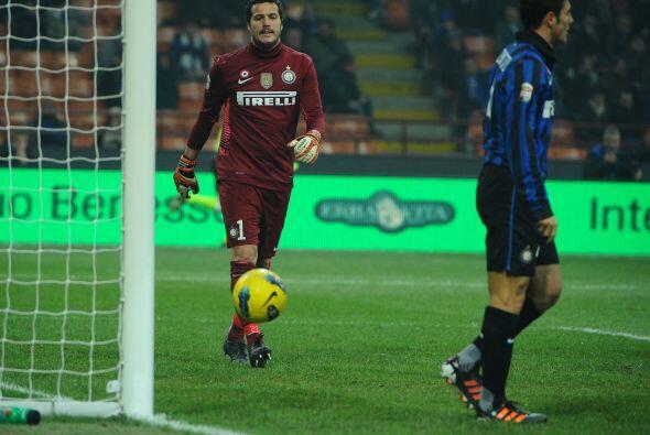 Sus atajadas evitaron que el conjunto 'nerazzurri' recibiera gol alguno...