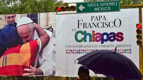 Esperan al Papa en Chiapas